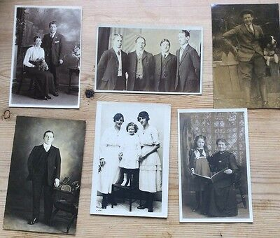 Collection of old photo portrait postcards - very early 20th Century