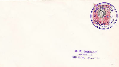 Envelope from Jamaica with a nice Mount Felix TRD 1953