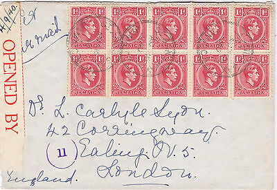 Censored cover from ST ANNS Jamaica TRD 1940
