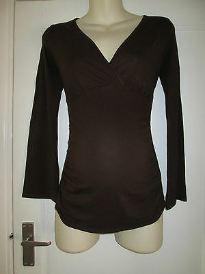 Lovely Size 8 Brown Maternity/nursing Top See Pics!!