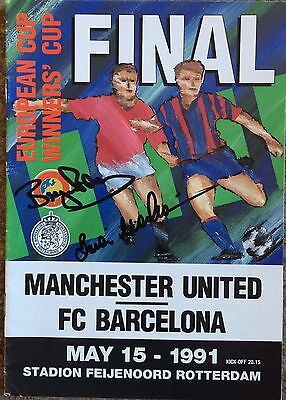 Man United V Barcelona 1991 Cup Winners Cup Final Match Programme- Signed