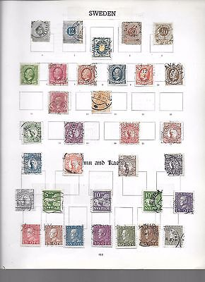 Sweden collection on 4 pages, from old album