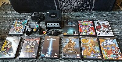 -- Console Nintendo Gamecube Noir + Lot 10 Jeux + 1 Manette Officiel --
