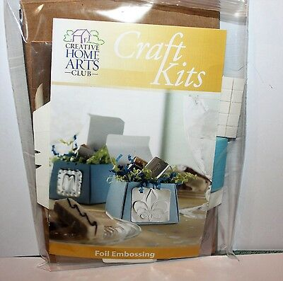 FOIL EMBOSSING Creative Home Arts Kit MAKES 8 FAVOR BOXES  NEW
