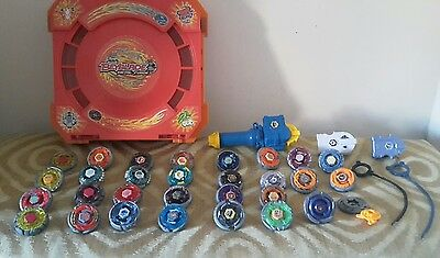 Large Metal Beyblade Fusion Spinning Tops 29 Spinners battle arena Bundle RARE