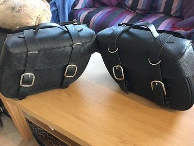 Motorcycle Synthetic Leather Saddle Bag Pannier Luggage