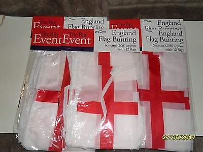 england flag bunting 20 foot long with 12 flags 5 packs