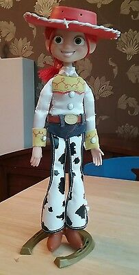 Toy Story Pull String Talking Jessie With Hat, Display Stand  interactive DELUXE