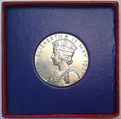 Choice 'As Struck' King George VI Coronation Medal, 32mm Silver In Box Of Issue.