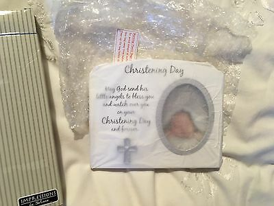 Brand New In Box Christening Baptism Gift Photo Frame Present