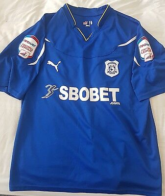Cardiff City Football Shirt xxl