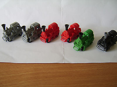 Vintage Kinder egg toy trains x 6 friction trains from 1988
