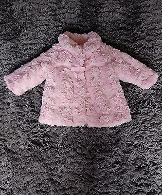baby girls pink coat 3-6 months