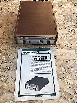 8 Track Pioneer Stereo Tape Recorder Deck H-R82