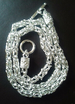 Wholesale .925 Sterling Silver 6Mm Twisted T Link Necklace And Gift Box.