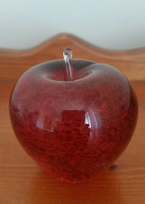 Wedgwood  Glass Red Apple Paperweight , excellent condition
