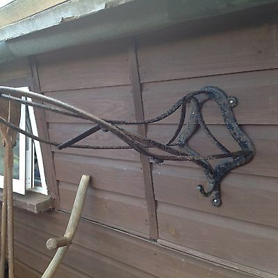 Vintage antique horse saddle bridle rack barn stable reclaimed