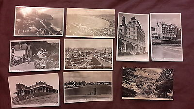 9 x Old postcards of Llandudno, Wales - Grand Hotel, Great Orme Hotel, Yachting