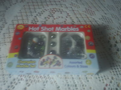 Champion Marble Set - Hot Shot Marbles, Assorted Colours And Sizes