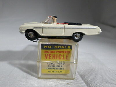 Aurora Vibrator HO Scale BOXED Slot Car 1962 Ford Sunliner Convertible
