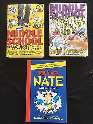 Lot of 3, Middle School Worst Years of My Life, Big Liar Patterson & Big Nate