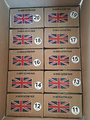 uk army ration pack (x10) / military long life food