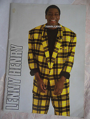 Lenny Henry Tour Programme from around 1984. Good cond. Vintage Item.