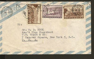Argentina Airmail Cover To New York