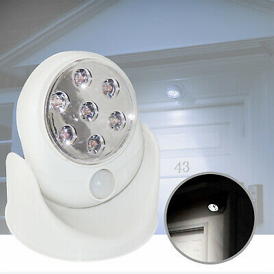 3pcs Motion Activated Cordless Sensor 7 LED Light Outdoor Garden Wall Patio Shed