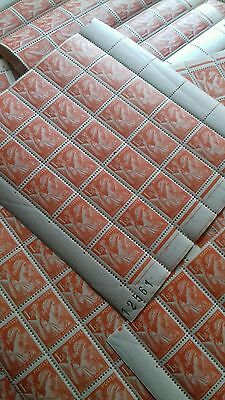 Iris - 1,50 fr X 100 timbres neufs, Lot timbres neufs avec gomme