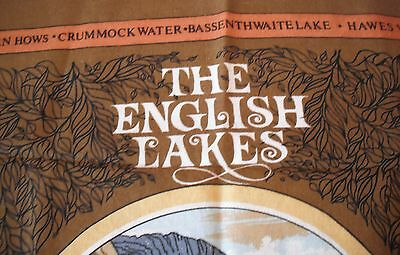 Vintage Cotton Kitchen Towel featuring 'The English Lakes' Made in Britain