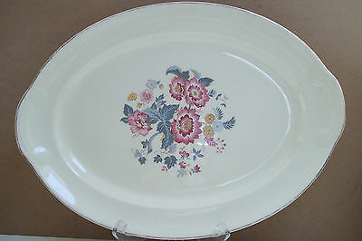 """Taylor Smith Taylor Floral Oval Serving Platter 13 1/4"""" X 9 3/4"""" Good Condition"""