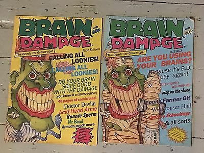 brain damage comic issues 1 & 2