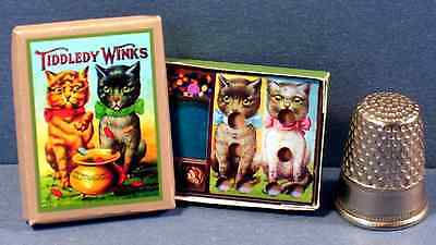 Dollhouse Miniature 1:12 Cat Tiddledy Winks Game Victorian dollhouse cat game