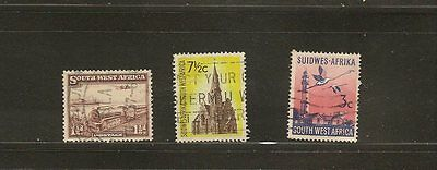 Swa  South West Africa 3 Used Stamps Locomotive