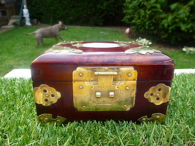 Oriental * Brass * Mother Of Pearl * Jewellery Box * Lovely Item * Low Reserve