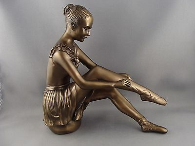 Art Deco Style Bronzed Resin Ballerina Figurine Sculpture by Oliver Tupton