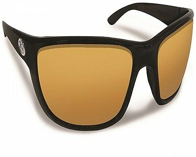 Flying Fisherman Cay Sal Matte Black With Amber Sunglasses