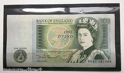 Bank Of England £1 One Pound Note Unc Mint Condition Rare