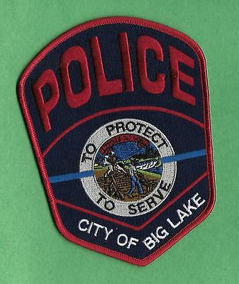 Minnesota -Large New Style- City Of Big Lake Police Department/blue Line
