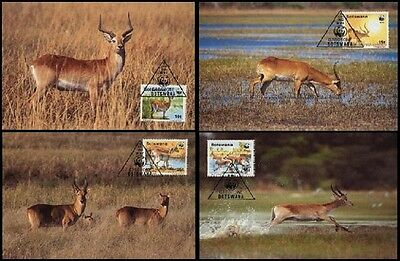 SALE Botswana WWF Red Lechwe 4 official Maxicards