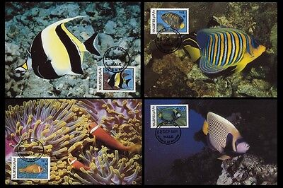 SALE Maldives WWF Fish 4 official Maxicards