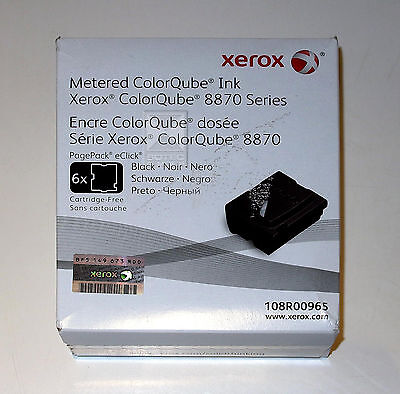 Xerox ColorQube 8870 Solid Ink, Black, 6 Sticks, 108R00965