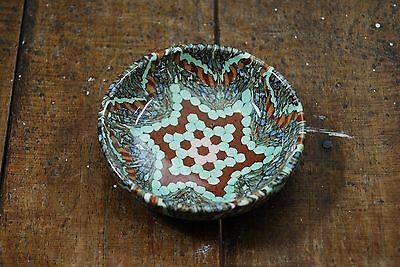 Beautiful Gerbino Vallauris France Signed Mosaic Art Pottery Bowl 9Cm