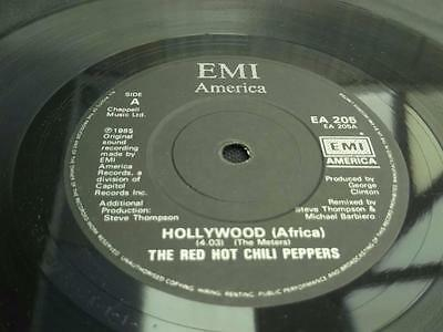 """Red Hot Chili Peppers Hollywood (Africa) 1985 Uk 7"""" Vinyl Record Single Ex/ex"""