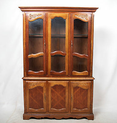 Bookcase Glass Mahogany Glazed Display Cabinet Large Library