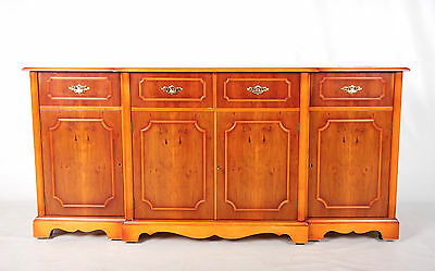Sideboard Breakfront Credenza Yew Fine Quality Inlaid Large Antique