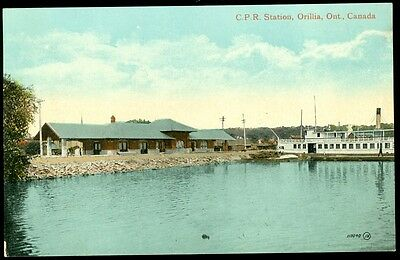 C.p.r. Station - Orillia, On Postcard