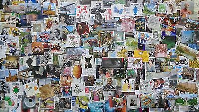 GB Kiloware 250 stamps inc High Values & Multi Issues 2001-2017 Off Paper - J5