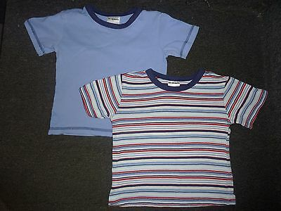 2 Boys short sleeved t shirts age 12 - 18 months